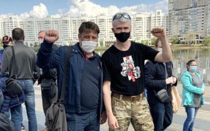 Кормлении голубей в Минске. 3 мая 2020 г.